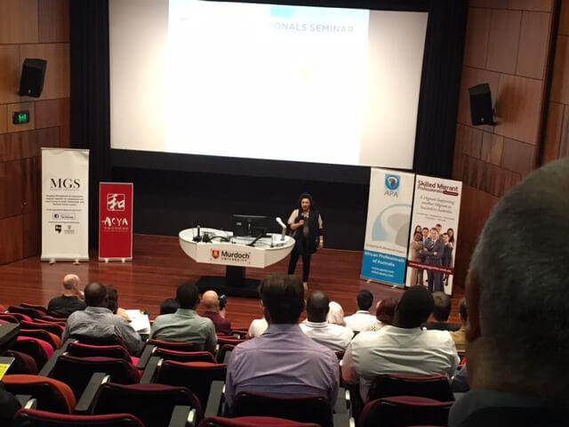 Presentation at the 2016 Skilled Migrants Professionals Seminar at Murdoch University