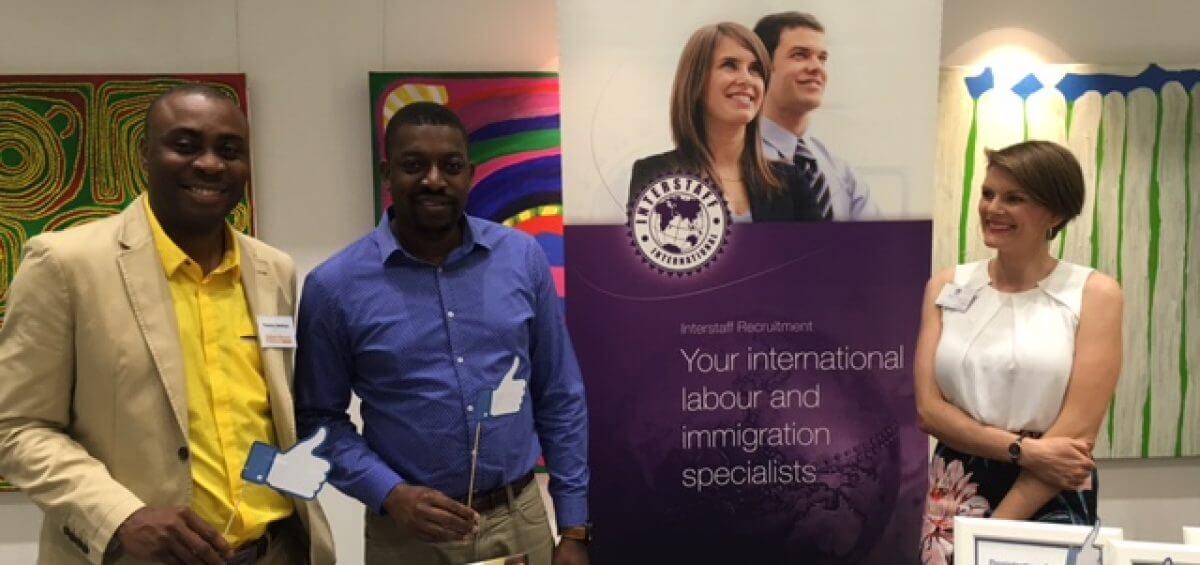 Interstaff stall at the 2016 Skilled Migrants Professionals Seminar