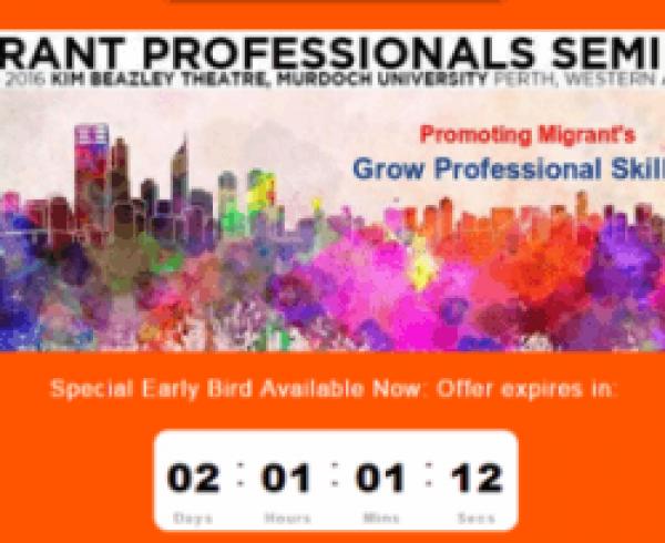 2016 Migration Professional Seminar poster countdown