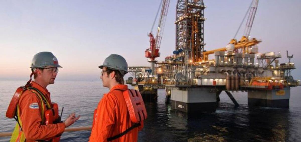 Offshore oil rig workers