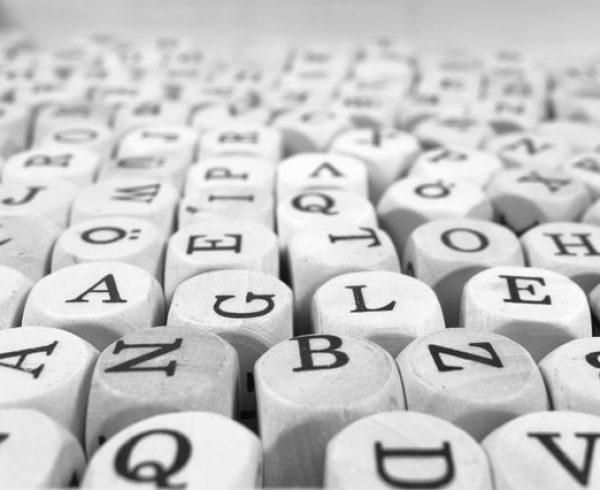 Scrabble letter blocks