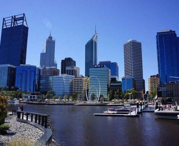 Elizabeth Quay in Perth