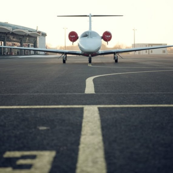 Airplane on runway for travel exemptions in Australia due to COVID-19